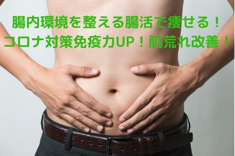 腸内環境を整える腸活で痩せる!コロナ対策免疫力UP!自律神経正常化!肌荒れ改善!